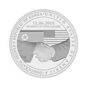 2018 United States & N. Korean Peace Talks Summit Commemorative Proof-Like Coin