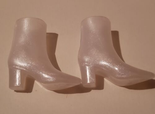NEW  Barbie doll CLEAR GLITTERED CURVY DOLL ankle boots
