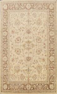 Vegetable Dye Floral Peshawar Oriental Area Rug Hand-knotted Wool Carpet 9x12 ft
