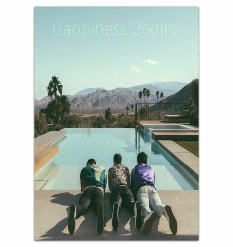 Jonas Brothers Happiness Begins 2019 Music Album Poster Fabric Decor X-401
