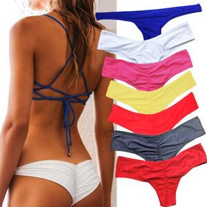 De Traje Bikini O Tanga Baño Play Mujer Fruncido Braguita Detalles Atrevido Brasileño V NwkX8nP0O