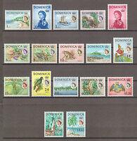 DOMINICA 1963 162/78 MNH Cat £50