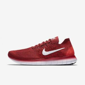 NEW Nike Free RN Flyknit 2017 Shoes 880843 600 Team Red