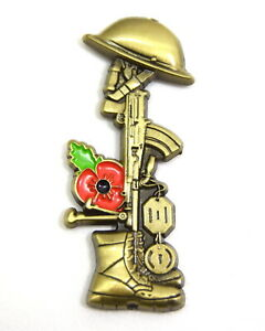 British-Army-Military-Soldier-Rifle-Boots-Helmet-Commemorative-Pin-Badge-Veteran