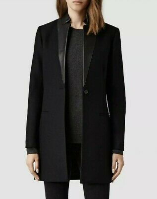 Details about All Saints Iris Lorie Womens Wool Coat Camel Tan UK 8