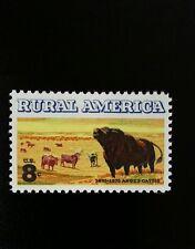 1973 8c Angus & Longhorn Cattle, Rural America Scott 1504 Mint F/VF NH