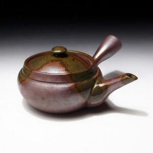 $KK49: Vintage Japanese Pottery Sencha Tea Pot, Banko ware
