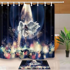Image Is Loading Cartoon Angel Shower Curtain Bedroom Decor Waterproof Fabric