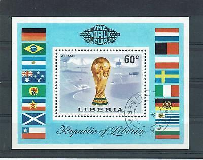 """Aggressiv Schöner Markenblock Liberia """" Fußball - Wm 1974 Deutschland """" Mich. Nr. Bl. 72a"""