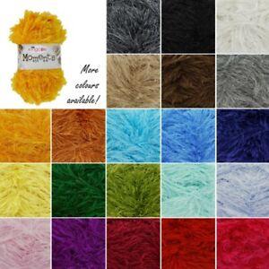 King-Cole-Moments-Eyelash-Knitting-Yarn-Knit-Craft-Wool-Crochet-50g-Ball