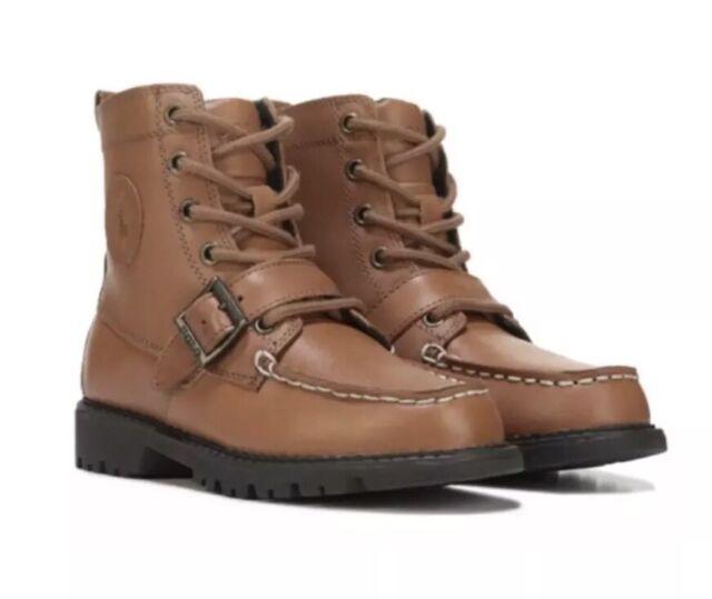 e41680e53ad NIB Polo Ralph Lauren Boys Ranger Hi II Ankle Boot Tan Brown Leather Size  12 3