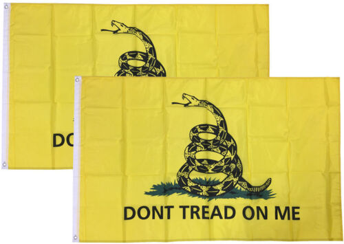 2x3 Ft Gadsden DONT TREAD ON ME Culpepper Rattlesnake Tea Party Flag yb 2 PACK