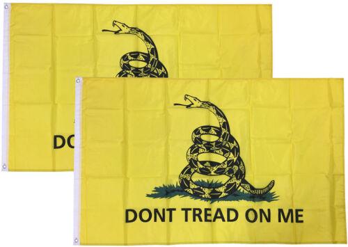 2x3 Ft Gadsden DONT TREAD ON ME Culpepper Rattlesnake Tea Party Flag yb 2 PACK