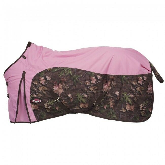 Tough-1  600D Waterproof Poly Turnout Blanket - Camo  Pink - 78 -  NWT -