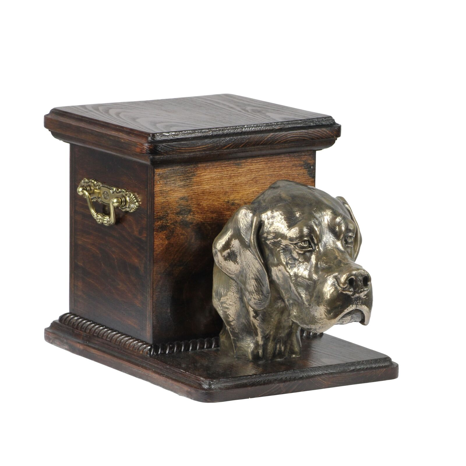 Pointer - wooden exclusive urn for dog with statue, Art Dog type 3