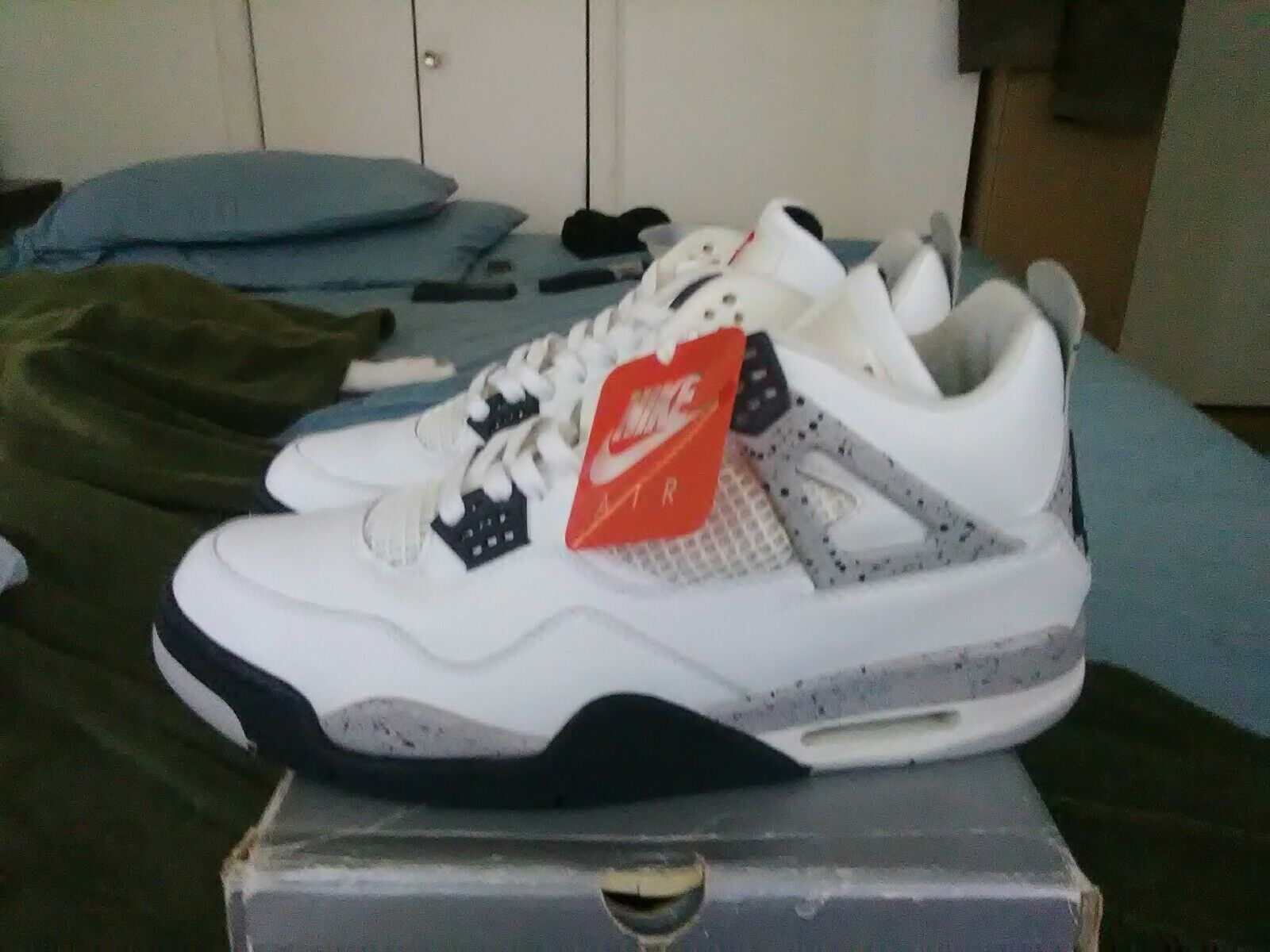 Nike Air Jordan IV 1999 OG WHITE CEMENT 136013 101 Size 13
