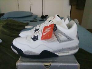 best sneakers 003c7 720b3 Image is loading Nike-Air-Jordan-IV-1999-OG-WHITE-CEMENT-