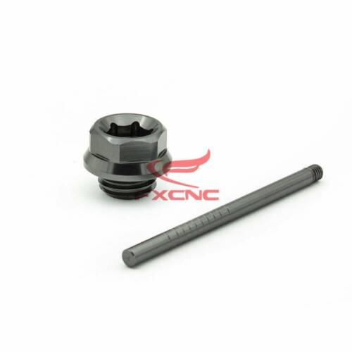 CNC Oil Dip Stick Filler Cap Dipstick For Yamaha YFM700R Raptor 700R 2008-2019
