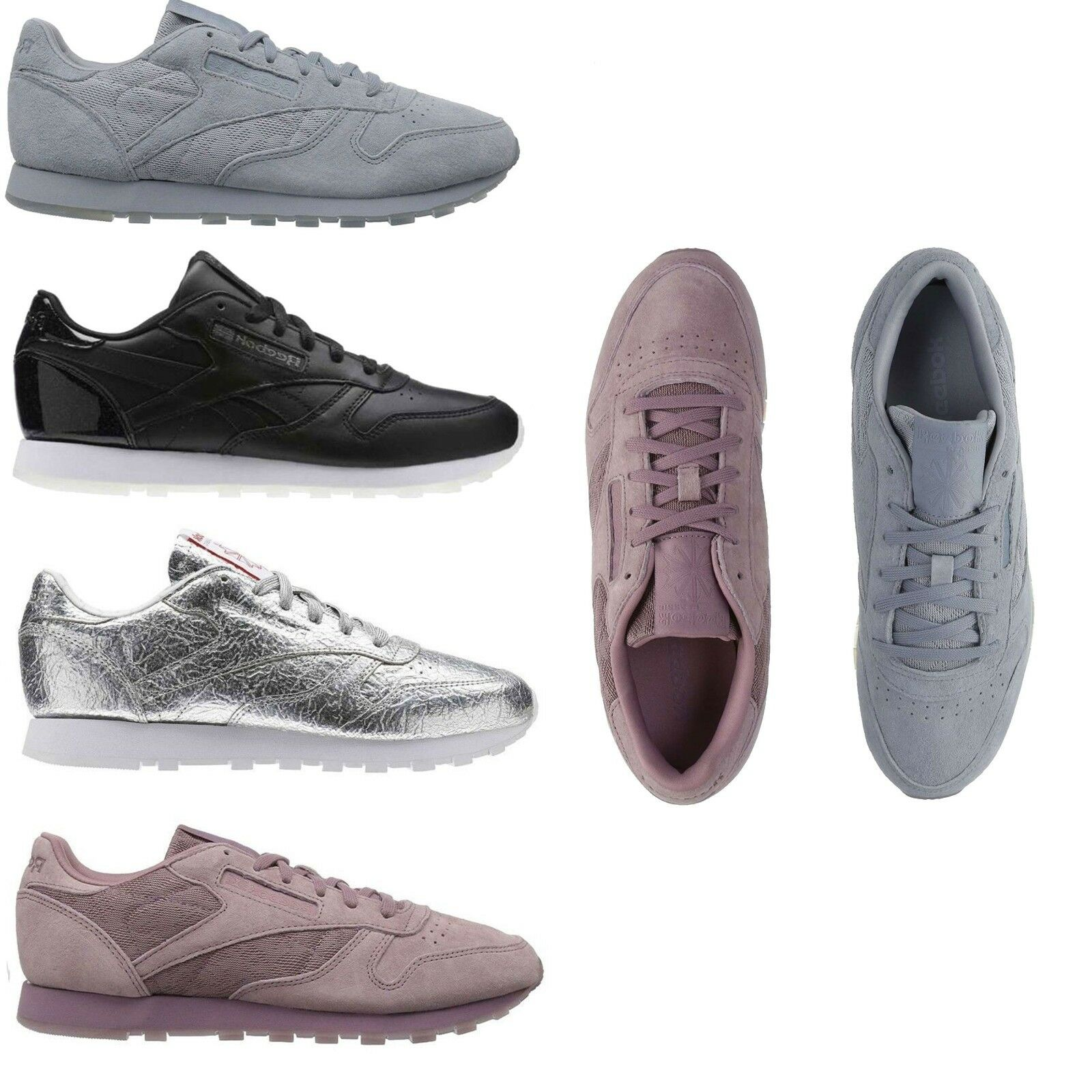 Reebok femmes  NEW Classics Leather/Suede Lace Up Sneakers Retro Casual  Chaussures