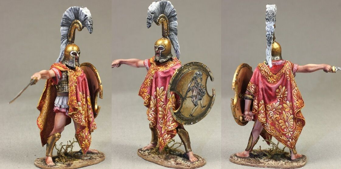 Tin toy soldiers ELITE painted 54 mm   Greek Thespian Hoplite