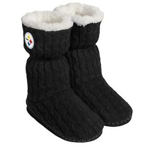 f08fd16e0422 Image is loading Pittsburgh-Steelers-NFL-Women-039-s-Black-Bootie-