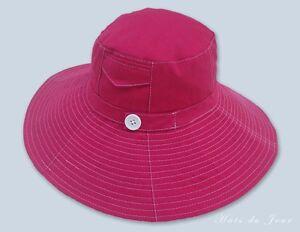 Details about DPC Tropical Trends Floppy Large Brim Cotton Fuchsia Sun Hat  - One Size 2edc6d91a38