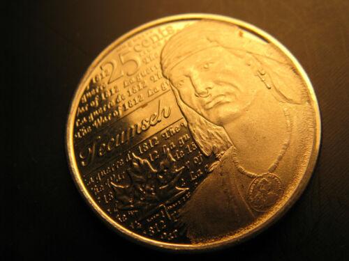 Canada 2012 Tecumseh 1812 War Hero 25 Cent Mint Grade Coin