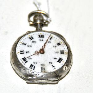 Montre gousset m canique ancienne en argent or crabe d cor cisel corbeille ebay for Montre decoration