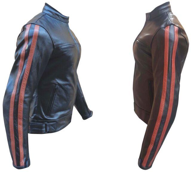 100% authentic 516b4 08d71 Giacca da Donna per Moto in Pelle, femminile NUOVA Protezioni CE Taglia . M