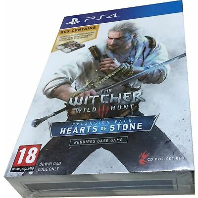 The Witcher 3 Wild Hunt Hearts of Stone Limited Ed with Gwent Cards PS4 New