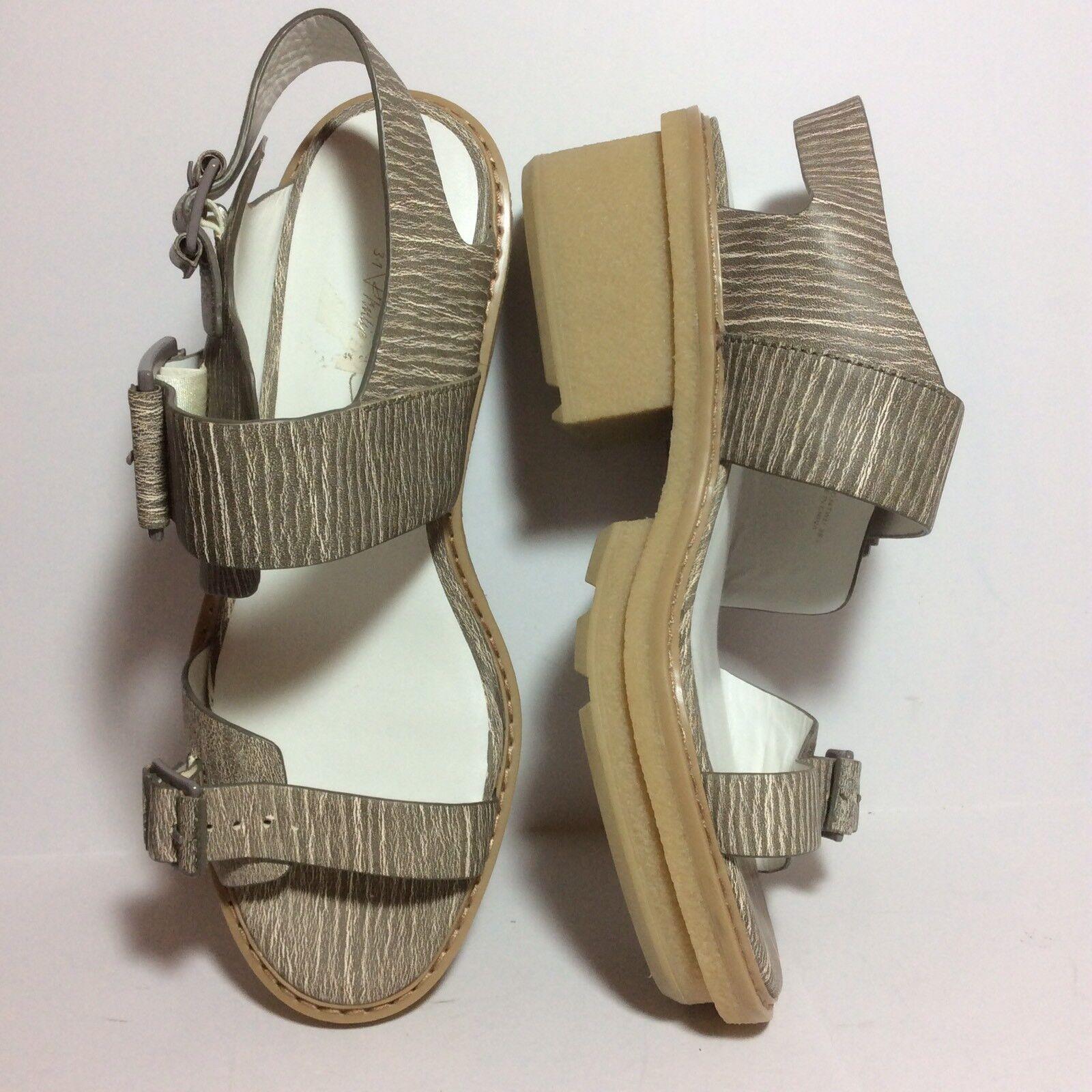 Nuova 495 3.1 Phillip Lim Mallory  Chunky Platform Sandals Beige Sz 39.5 o 9.5  punto vendita