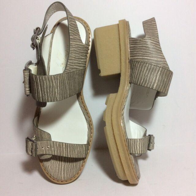 NWOB 495 3.1 Phillip Lim Mallory Chunky Platform Sandals Beige Sz 39.5 9.5