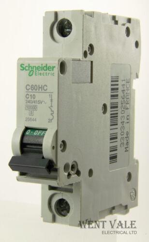 Schneider C60HC110-10a Type C Single Pole MCB Used