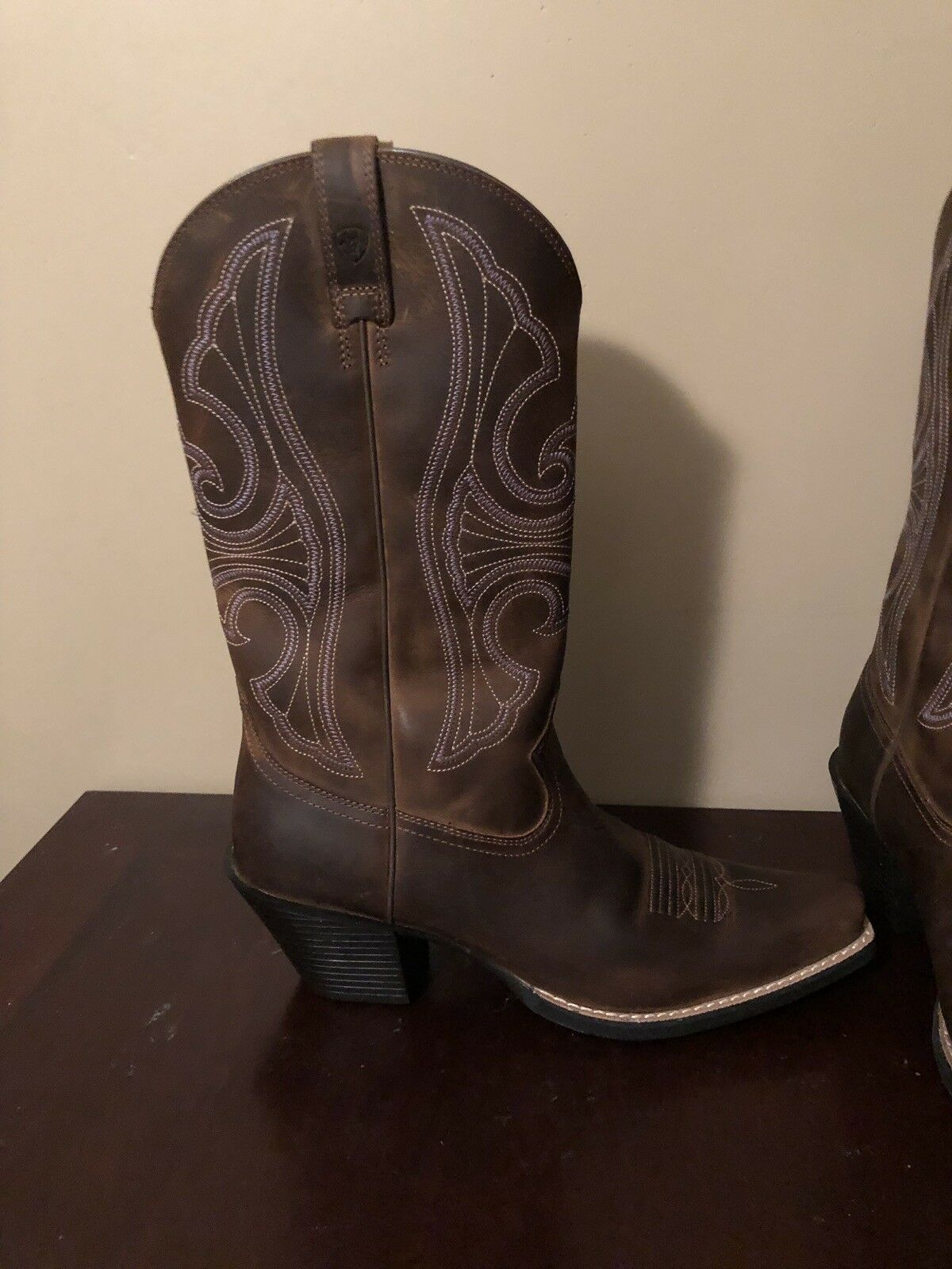 ARIAT ROUND UP D-TOE WESTERN WESTERN WESTERN marron LEATHER démarrage femmes 8a05e7