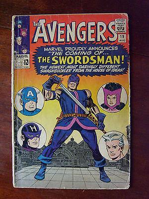 Avengers #19 (1965 Marvel) 1st App Swordsman; Origin Hawkeye, Silver Age 2.0 GD