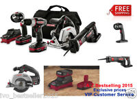 Craftsman 19.2-volt 4-pcs Lithium Combo 1/2 Drilll 2 Batteries Trim Saw Light