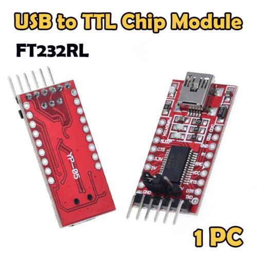 UK USB to TTL Serial Converter Adapter FT232RL Module 5V and 3.3V Arduino ARM