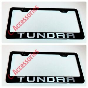 2X Mazda CX-5 Stainless Steel Black License Plate Frame Rust Free