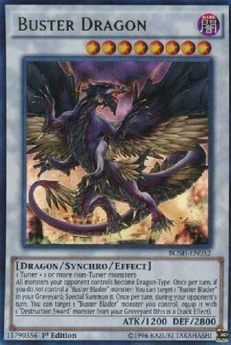Yugioh Card - Buster Dragon - BOSH-EN052 - Ultra Rare 1st Edition NM