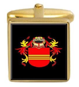 Verantwortlich Beeren England Familie Wappen Heraldik Manschettenknöpfe Schachtel Set Graviert
