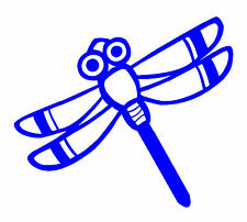 10cm DRAGONFLY baby kids room wall tile art,window,car decal sticker.26 colours!