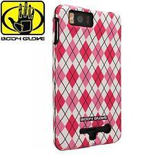 BRAND NEW Retail Body Glove Pink Argyle Snap-On Case for Motorola Milestone X2