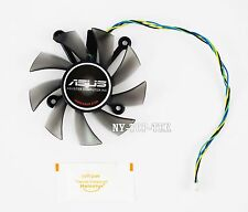 75mm Video card R128015SU Fan (PLA08015S12HH) for ASUS HD6850 HD7750 GTS450 550