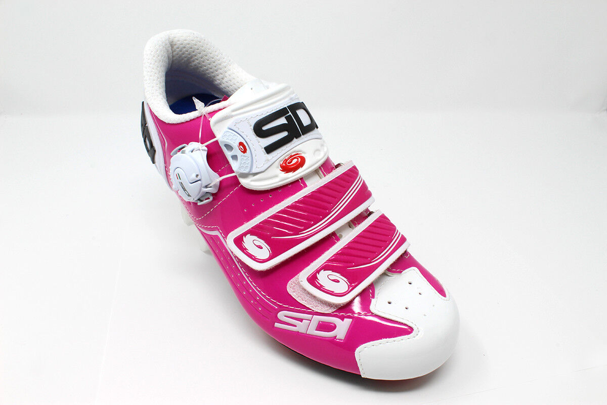 BRAND NEW Sidi Trace Women White Fucshia Mountain Bike shoes - Size 6.25   38