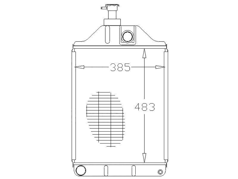 Radiateur compatible avec MASSEY FERGUSON 168 168 168 175 178 185 188 TRACTEURS 7192c2