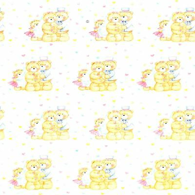 5 x 3m Mr And Mrs Teddy Bear Wedding Present Wrapping Paper Gift Wrap Roll Set