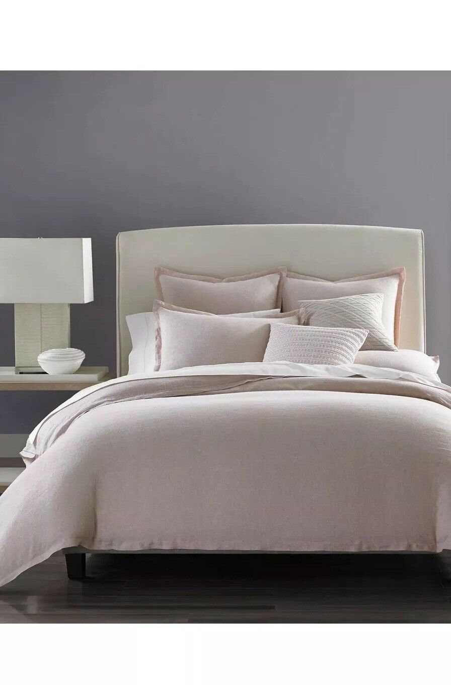 Hotel Collection Solid Linen pinkquartz KING Duvet Cover & Two Standard Shams.