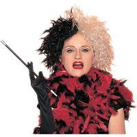 Women's Wicked Lady Cruella Deville Black White Wig Mad Scientist Mens