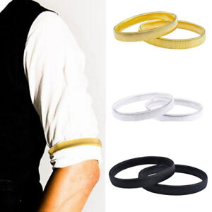2pcs Shirt Sleeve Holders Arm Bands Garter Elasticated For Mens Ladies