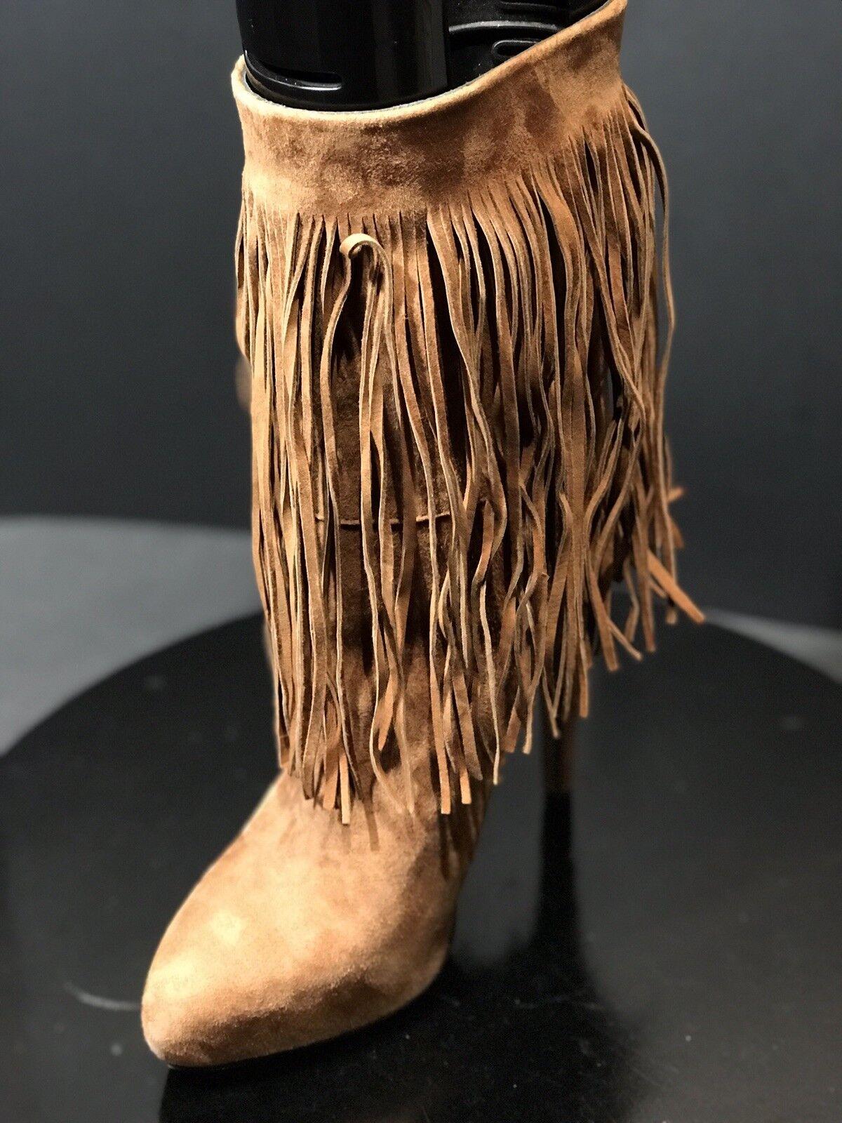 Massimo Matteo Matteo Matteo para Mujer Moda botas De Gamuza Marrón Flecos Cacau Talla 7 M  forma única
